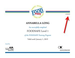 Food Safety Certification - Placer County, California